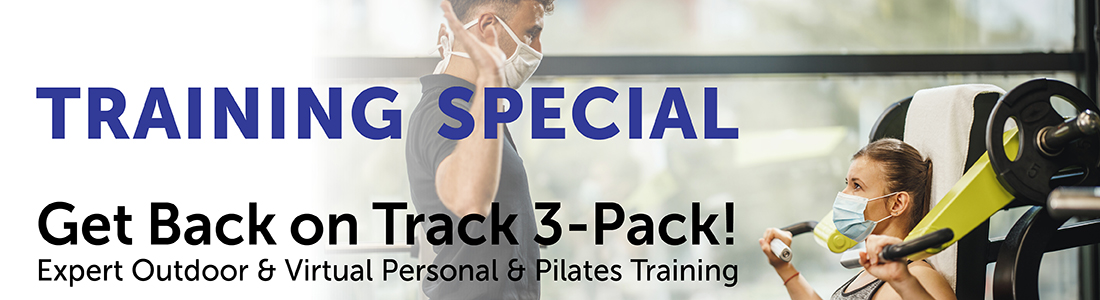 get back on track 3-pack personal training special